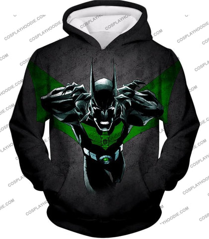Image of Cool Batman Merge Green Lantern Action Grey T-Shirt Bm057 Hoodie / Us Xxs (Asian Xs)