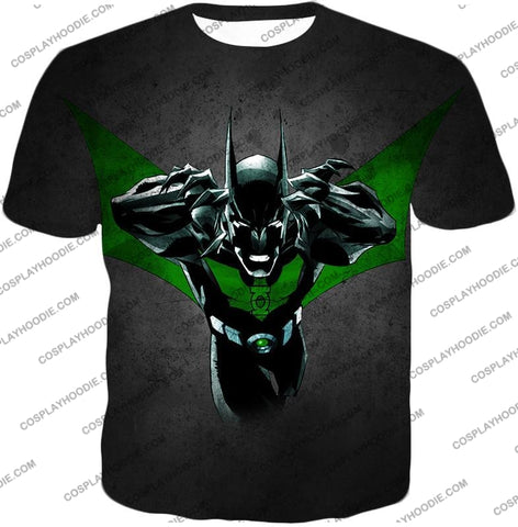 Image of Cool Batman Merge Green Lantern Action Grey T-Shirt Bm057 / Us Xxs (Asian Xs)