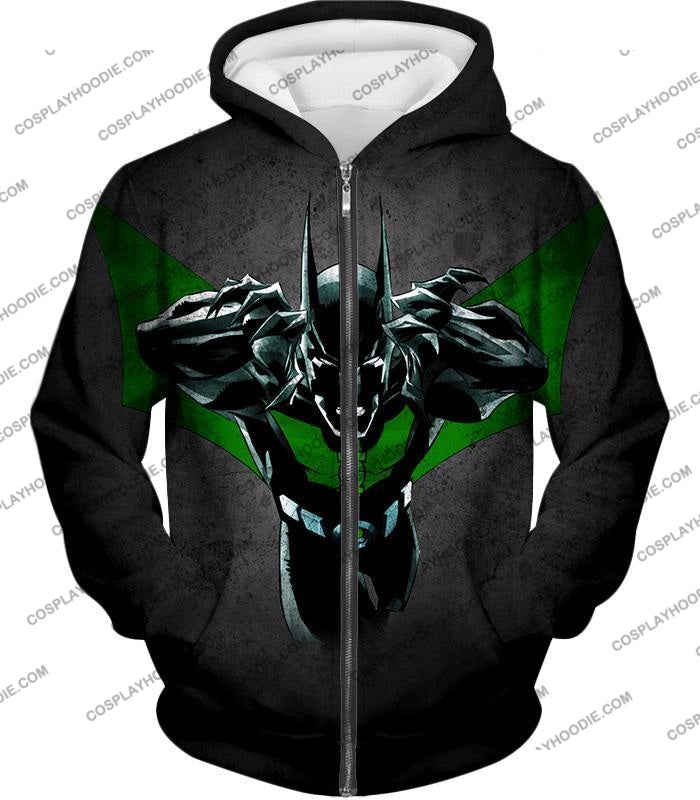 Cool Batman Merge Green Lantern Action Grey T-Shirt Bm057 Zip Up Hoodie / Us Xxs (Asian Xs)