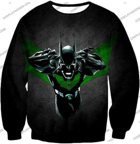 Image of Cool Batman Merge Green Lantern Action Grey T-Shirt Bm057 Sweatshirt / Us Xxs (Asian Xs)
