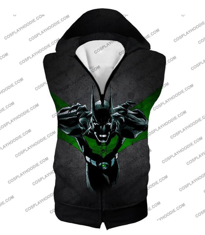 Image of Cool Batman Merge Green Lantern Action Grey T-Shirt Bm057 Hooded Tank Top / Us Xxs (Asian Xs)