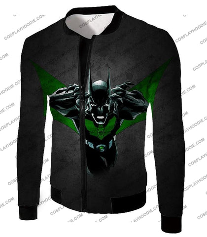 Image of Cool Batman Merge Green Lantern Action Grey T-Shirt Bm057 Jacket / Us Xxs (Asian Xs)