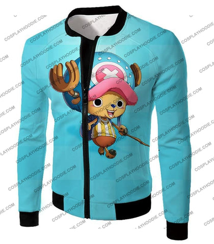Image of One Piece Cotton Candy Lover Doctor Tony Chopper Cool Blue T-Shirt Op057 Jacket / Us Xxs (Asian Xs)