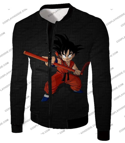 Image of Dragon Ball Super Cool Kid Goku Awesome Promo Anime Black T-Shirt Dbs058 Jacket / Us Xxs (Asian Xs)