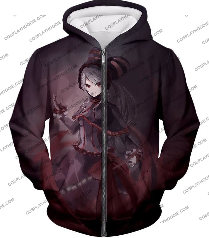 Overlord Shalltear Bloodfallen The True Vampire Cool Anime Promo T-Shirt Ol059 Zip Up Hoodie / Us
