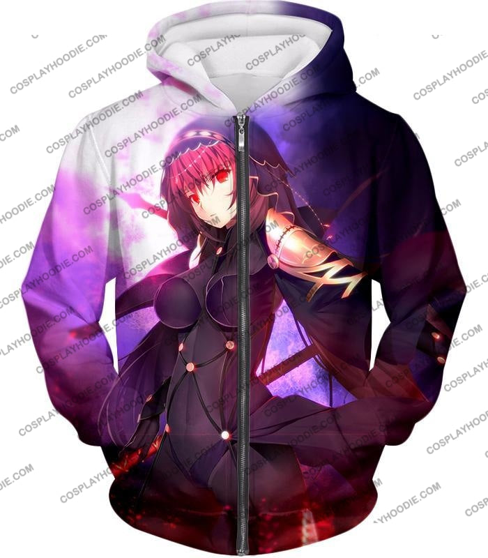 Fate Stay Night Rider Class Grand Order Scathach Cool T-Shirt Fsn059 Zip Up Hoodie / Us Xxs (Asian