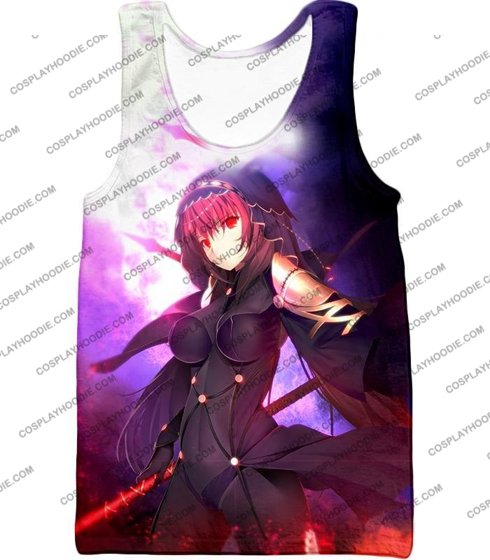 Fate Stay Night Rider Class Grand Order Scathach Cool T-Shirt Fsn059 Tank Top / Us Xxs (Asian Xs)