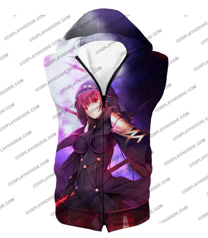 Image of Fate Stay Night Rider Class Grand Order Scathach Cool T-Shirt Fsn059 Hooded Tank Top / Us Xxs (Asian