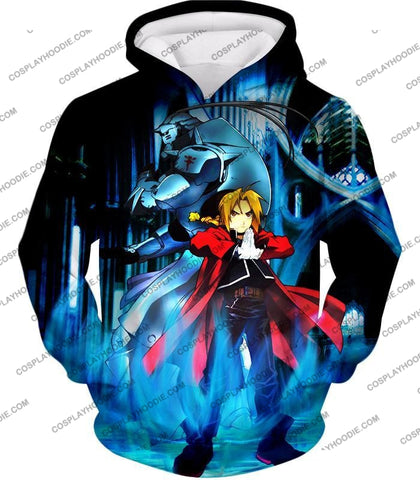 Image of Fullmetal Alchemist Brothers Forever Edward Elrich X Alponse Cool Anime Action T-Shirt Fa006 Hoodie