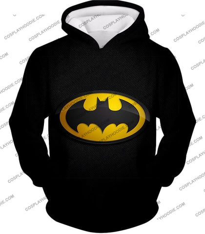 Image of Amazing Promo Batman Logo Cool Black T-Shirt Bm006 Hoodie / Us Xxs (Asian Xs)