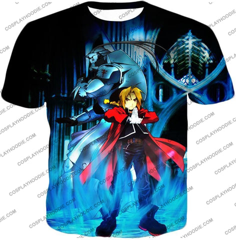 Image of Fullmetal Alchemist Brothers Forever Edward Elrich X Alponse Cool Anime Action T-Shirt Fa006 / Us