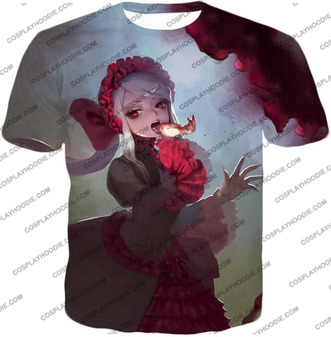 Image of Overlord Cool Shalltear Bloodfallen The Bloody Valkyrie Awesome Anime T-Shirt Ol006 / Us Xxs (Asian