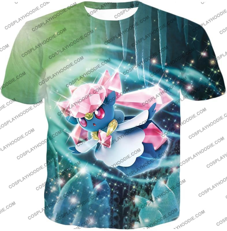 Pokemon Cool Fairy Rock Type Diancie T-Shirt Pkm006 / Us Xxs (Asian Xs)