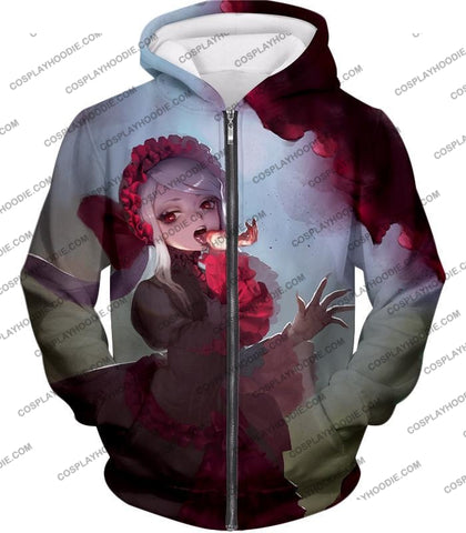 Image of Overlord Cool Shalltear Bloodfallen The Bloody Valkyrie Awesome Anime T-Shirt Ol006 Zip Up Hoodie /