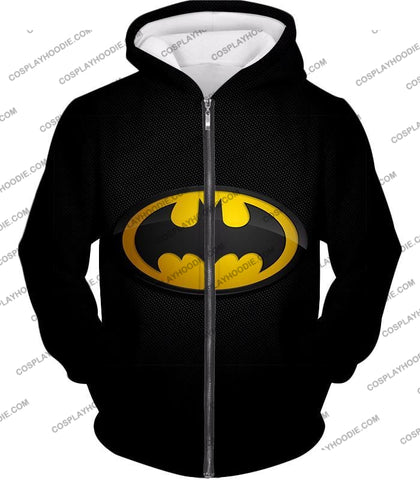 Image of Amazing Promo Batman Logo Cool Black T-Shirt Bm006 Zip Up Hoodie / Us Xxs (Asian Xs)