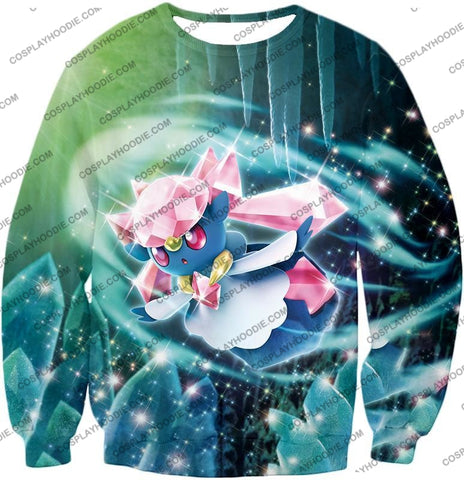 Image of Pokemon Cool Fairy Rock Type Diancie T-Shirt Pkm006 Sweatshirt / Us Xxs (Asian Xs)