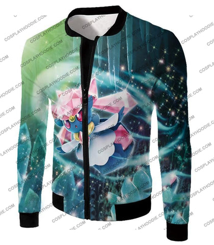 Image of Pokemon Cool Fairy Rock Type Diancie T-Shirt Pkm006 Jacket / Us Xxs (Asian Xs)