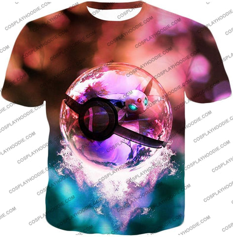 Image of Pokemon Mystic Mew Pokeball Amazing Colourful T-Shirt Pkm060 / Us Xxs (Asian Xs)