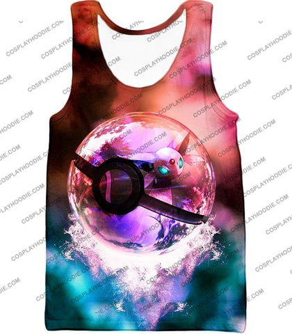 Image of Pokemon Mystic Mew Pokeball Amazing Colourful T-Shirt Pkm060 Tank Top / Us Xxs (Asian Xs)