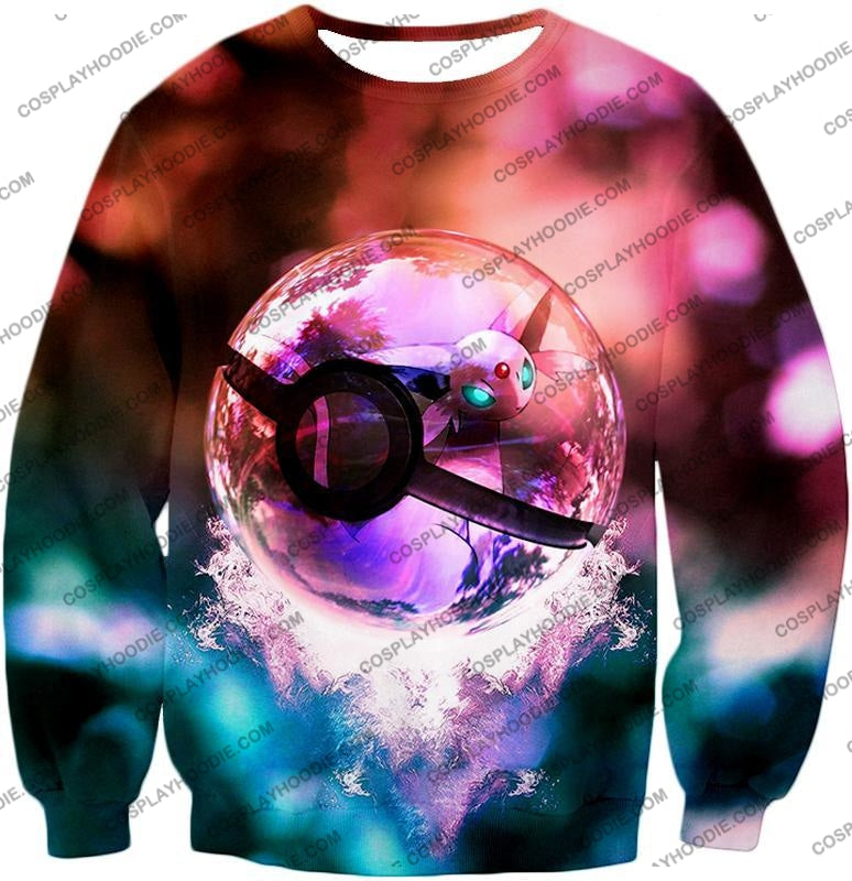Pokemon Mystic Mew Pokeball Amazing Colourful T-Shirt Pkm060 Sweatshirt / Us Xxs (Asian Xs)