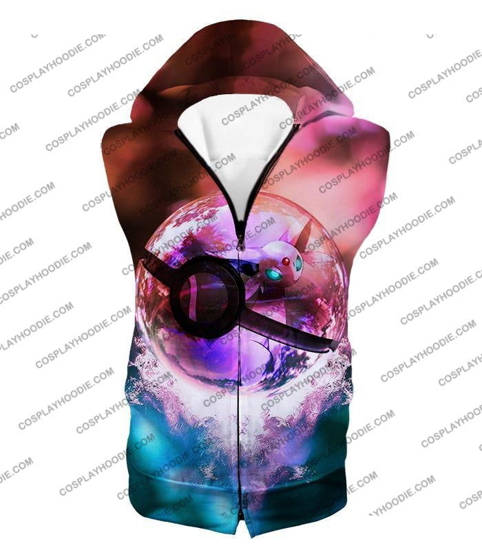 Pokemon Mystic Mew Pokeball Amazing Colourful T-Shirt Pkm060 Hooded Tank Top / Us Xxs (Asian Xs)