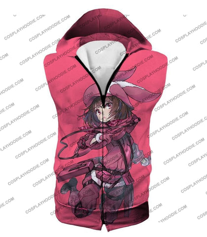 Image of Sword Art Online Gun Gale Pink Devil Kohiruimaki Karen Aka Llenn Cool Promo T-Shirt Sao060 Hooded