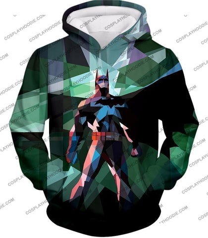 Image of Fighting For Justice Ultimate Batman Cool Spotlight Finish T-Shirt Bm061 Hoodie / Us Xxs (Asian Xs)