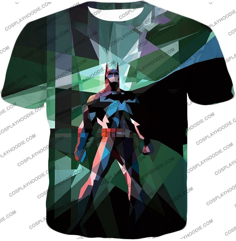 Fighting For Justice Ultimate Batman Cool Spotlight Finish T-Shirt Bm061 / Us Xxs (Asian Xs)