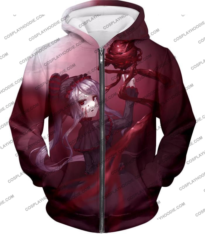 Overlord The Bloody Valkyrie Shalltear Bloodfallen Ultimate Action Promo T-Shirt Ol061 Zip Up Hoodie
