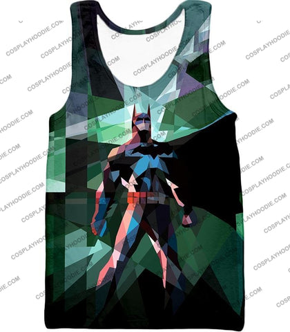 Image of Fighting For Justice Ultimate Batman Cool Spotlight Finish T-Shirt Bm061 Tank Top / Us Xxs (Asian