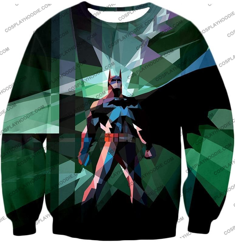 Fighting For Justice Ultimate Batman Cool Spotlight Finish T-Shirt Bm061 Sweatshirt / Us Xxs (Asian