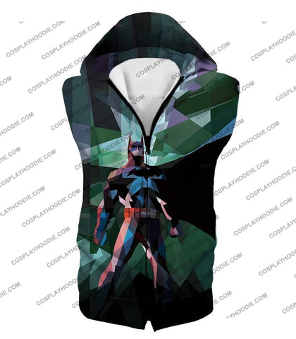 Image of Fighting For Justice Ultimate Batman Cool Spotlight Finish T-Shirt Bm061 Hooded Tank Top / Us Xxs