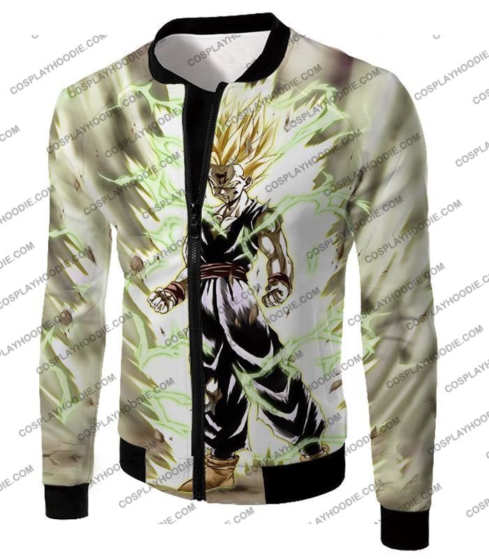 Dragon Ball Super Favourite Fighter Gohan Saiyan 2 Awesome Action White T-Shirt Dbs061 Jacket / Us