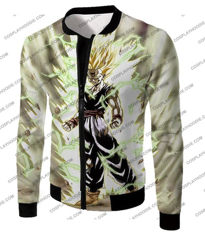 Image of Dragon Ball Super Favourite Fighter Gohan Saiyan 2 Awesome Action White T-Shirt Dbs061 Jacket / Us
