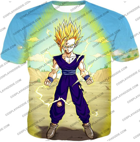 Image of Dragon Ball Super Ultimate Anime Gohan Saiyan 2 Cell Saga Cool Graphic T-Shirt Dbs062 / Us Xxs