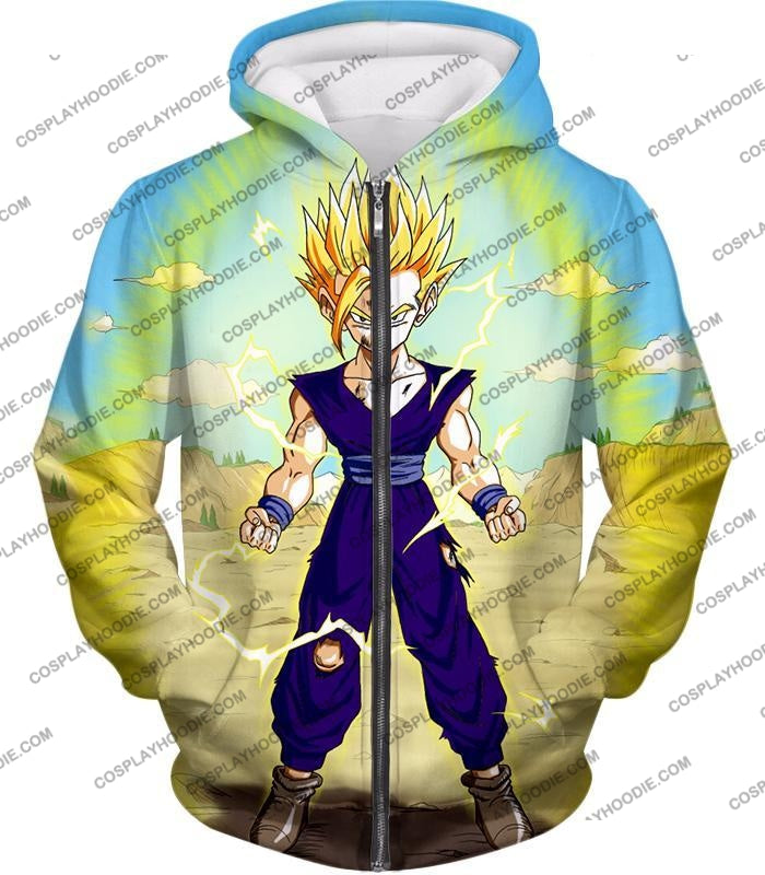 Dragon Ball Super Ultimate Anime Gohan Saiyan 2 Cell Saga Cool Graphic T-Shirt Dbs062 Zip Up Hoodie