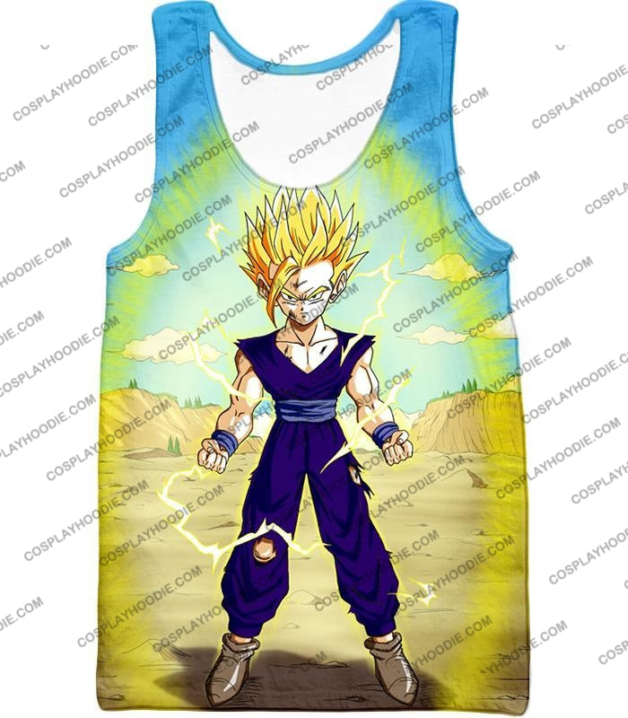 Dragon Ball Super Ultimate Anime Gohan Saiyan 2 Cell Saga Cool Graphic T-Shirt Dbs062 Tank Top / Us