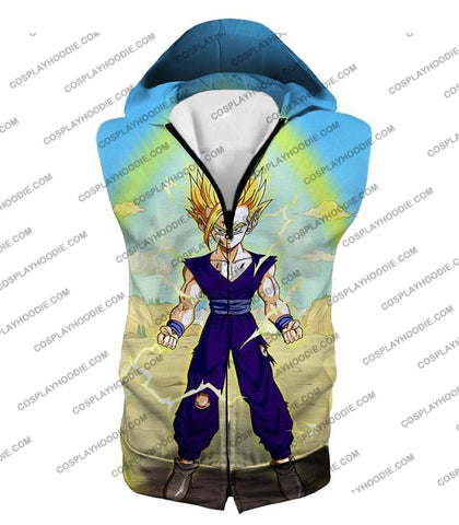 Image of Dragon Ball Super Ultimate Anime Gohan Saiyan 2 Cell Saga Cool Graphic T-Shirt Dbs062 Hooded Tank