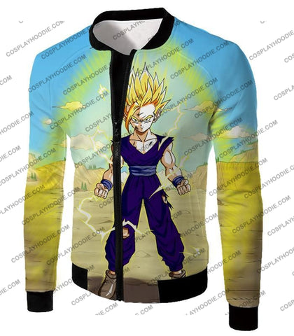 Image of Dragon Ball Super Ultimate Anime Gohan Saiyan 2 Cell Saga Cool Graphic T-Shirt Dbs062 Jacket / Us