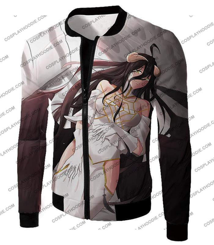 Overlord Beautiful Prime Minister Albedo Cool Promo Graphic T-Shirt Ol063 Jacket / Us Xxs (Asian Xs)