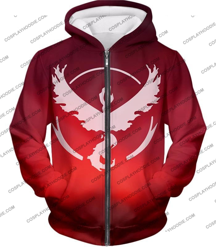 Pokemon Legendary Fire Moltress Symbol Amazing Red T-Shirt Pkm066 Zip Up Hoodie / Us Xxs (Asian Xs)