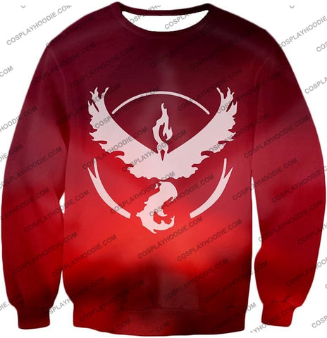 Image of Pokemon Legendary Fire Moltress Symbol Amazing Red T-Shirt Pkm066 Sweatshirt / Us Xxs (Asian Xs)