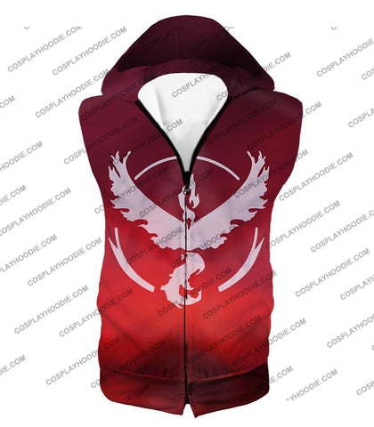 Image of Pokemon Legendary Fire Moltress Symbol Amazing Red T-Shirt Pkm066 Hooded Tank Top / Us Xxs (Asian