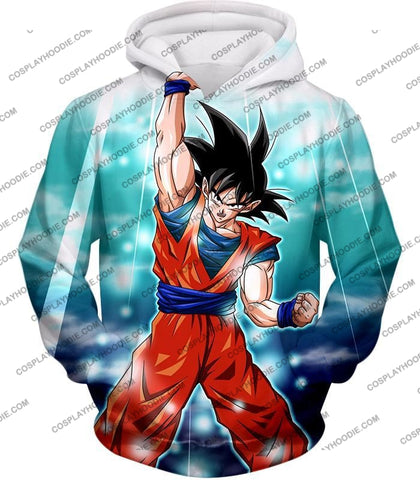 Image of Dragon Ball Super Best Fighter Goku Awesome Hero Action Anime T-Shirt Dbs067 Hoodie / Us Xxs (Asian