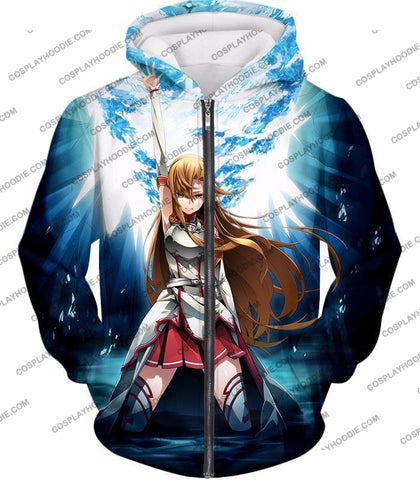 Image of Sword Art Online Surviving Extreme Beauty Yuuki Asuna Ultimate Anime Promo T-Shirt Sao067 Zip Up