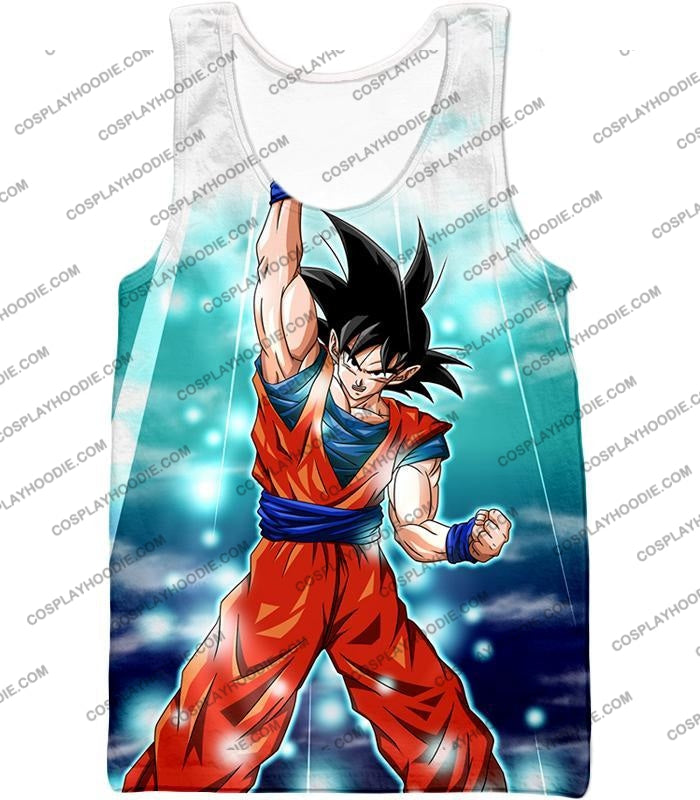 Dragon Ball Super Best Fighter Goku Awesome Hero Action Anime T-Shirt Dbs067 Tank Top / Us Xxs