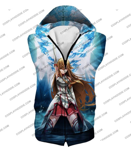 Image of Sword Art Online Surviving Extreme Beauty Yuuki Asuna Ultimate Anime Promo T-Shirt Sao067 Hooded