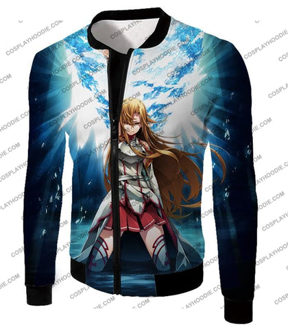 Image of Sword Art Online Surviving Extreme Beauty Yuuki Asuna Ultimate Anime Promo T-Shirt Sao067 Jacket /