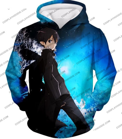 Image of Sword Art Online Kirito The Black Swordsman Sao Cool Anime Graphic Promo T-Shirt Sao068 Hoodie / Us
