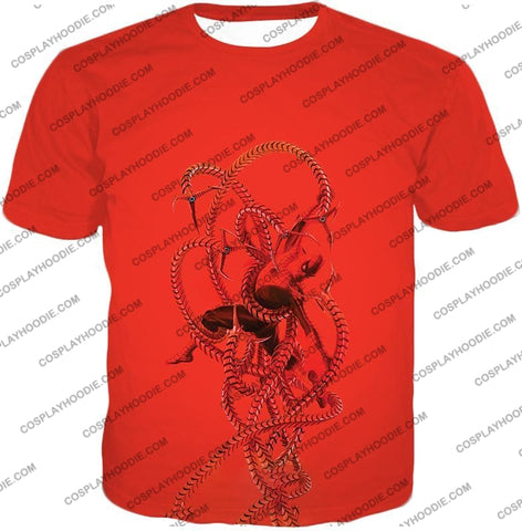 Image of Spiderman In Octopus Claws Cool Red Action T-Shirt Sp068 / Us Xxs (Asian Xs)